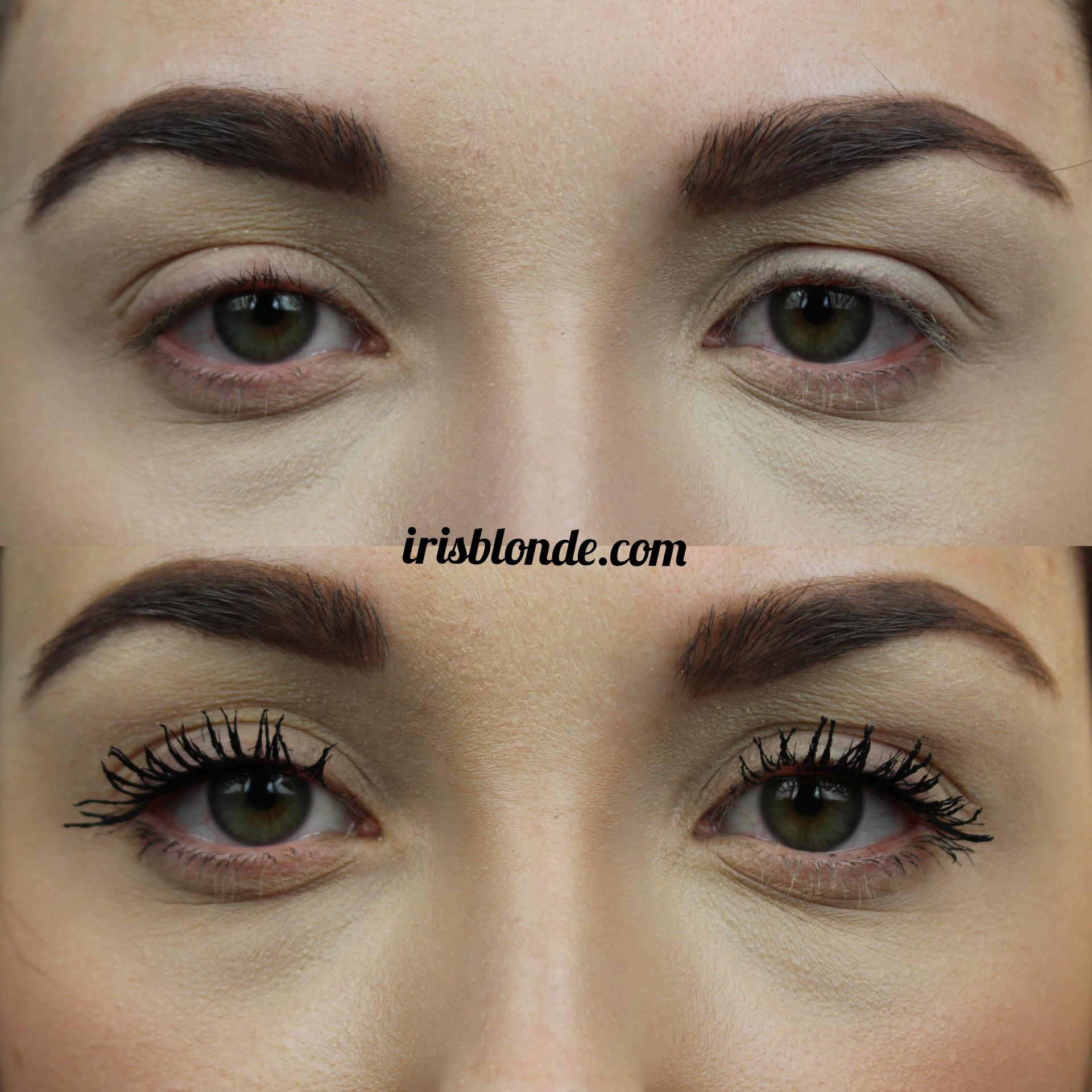 Prima e dopo mascara essence